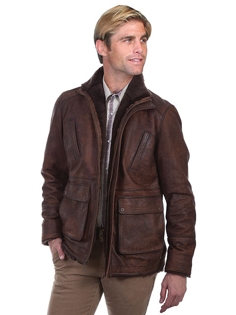 Classic Leather Car Coat