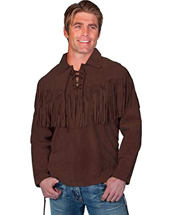 Fringe leather shirt worn by trappers