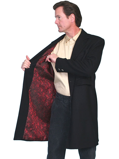 Wool Frock coat with dragon lining