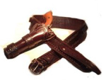 Leather Western Cowboy High Rider Gunbelt with Single Side Holster