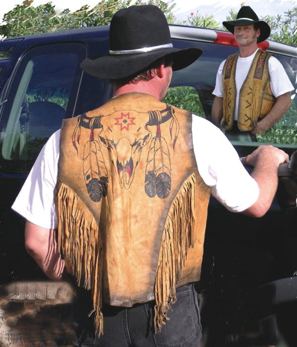 The Bullhead Western Leather Vest