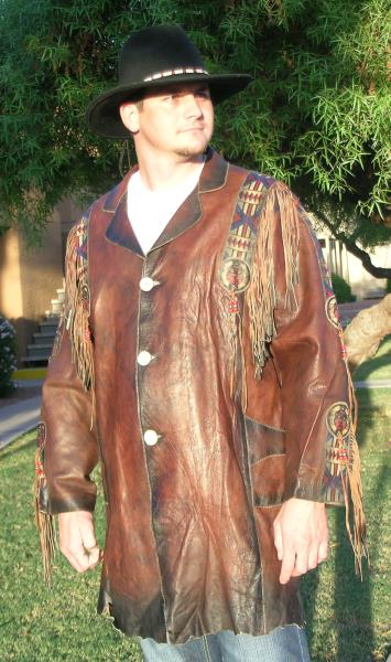 Cherokee Rough Cut Leather Coat