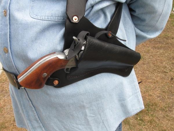 Leather Shoulder Holster Revolver | JustHere tk - Hot
