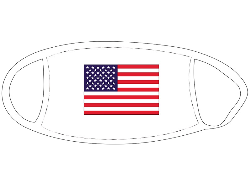 Face Mask with American Flag Design