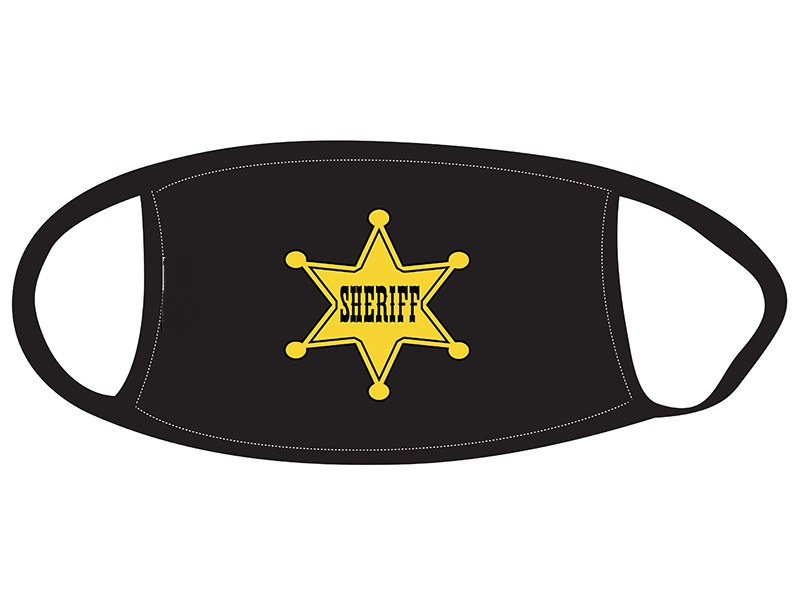 Face Mask with Sheriff Badge Design