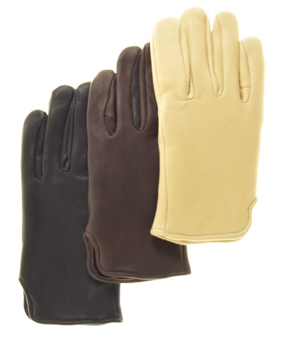Deerskin Slip-On Gloves with Nordic Fleece Lining
