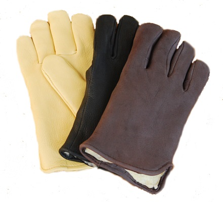 Deerskin Slip On Gloves With Pile Lining