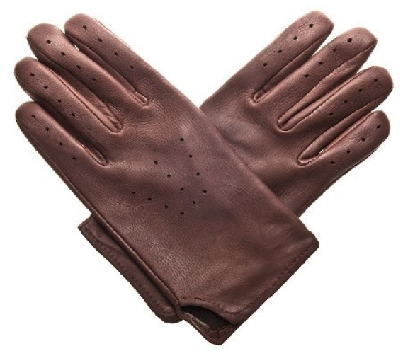Deerskin Slip On Driving / Riding Gloves With Holes Ventilated