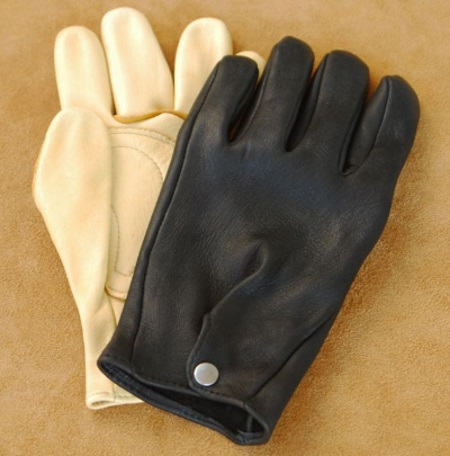 Deerskin Roper Gloves with Snap Back