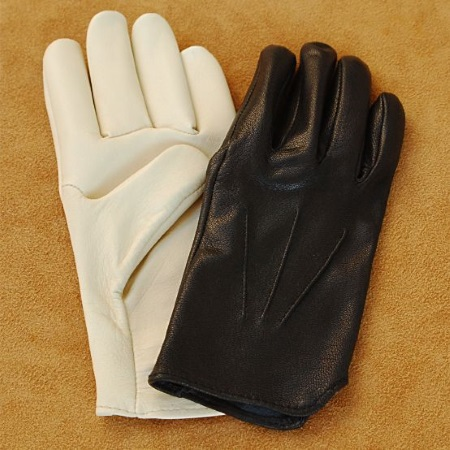 Western Goatskin Slip On Riding / Driving Gloves with Ribbed Backhand