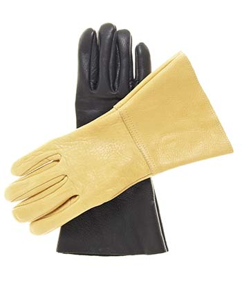 Western American Bison Gauntlet Riding / Driving Gloves