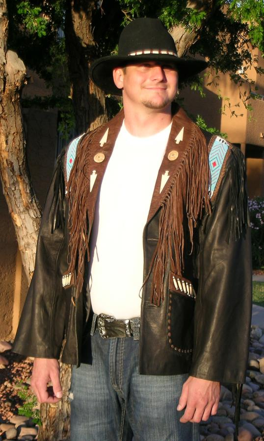 Idaho Western Leather Coat