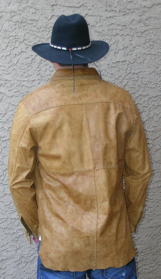 Alabama unlined leather shirt