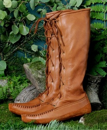 Men's Knee High Deertan Boots Fringeless