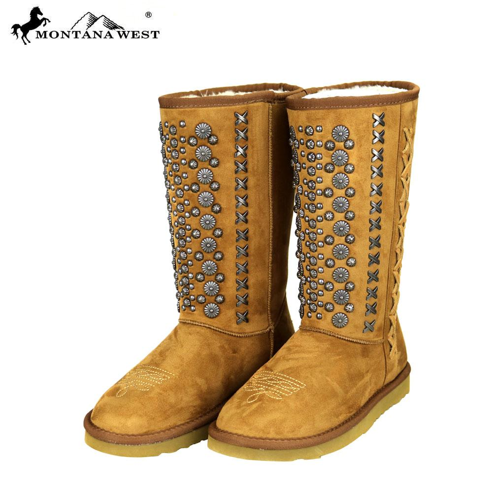 Montana West Stud Collection Boots