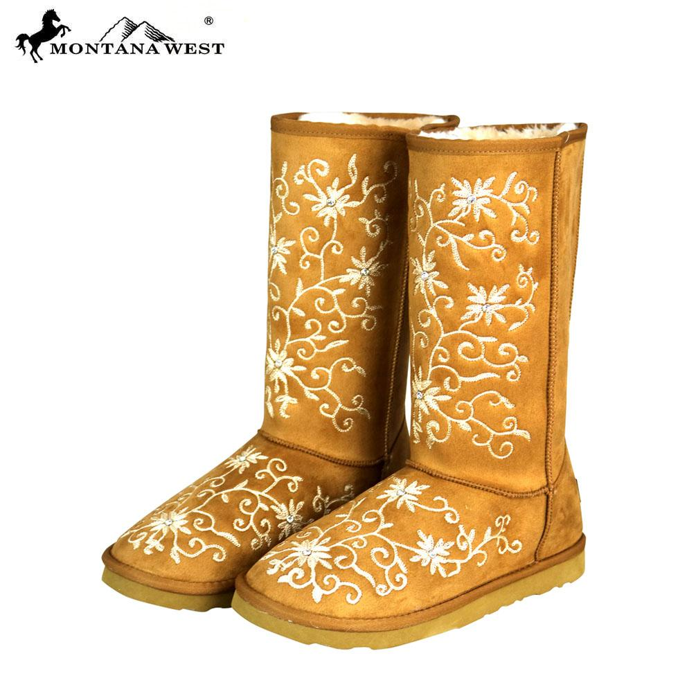 Montana West Embroidered Boots