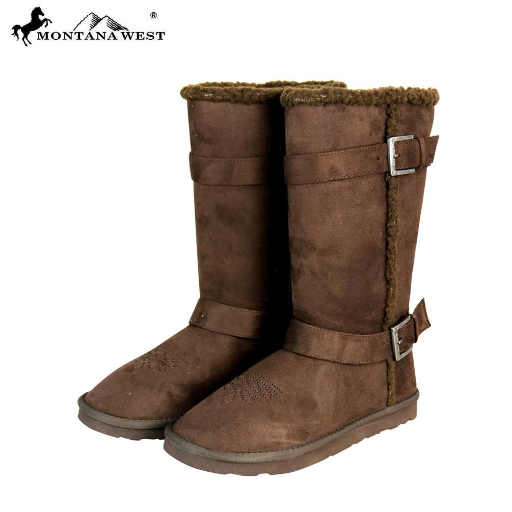 Montana West Buckle Boots