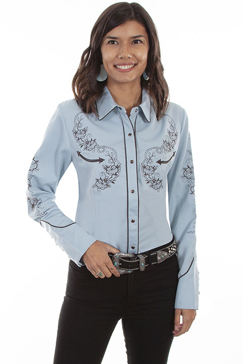 Classic embroidered western shirt