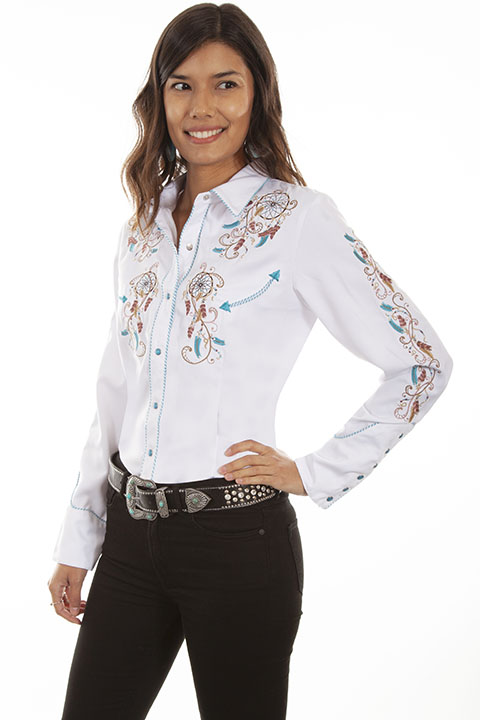 Dream weaver embroidered western shirt