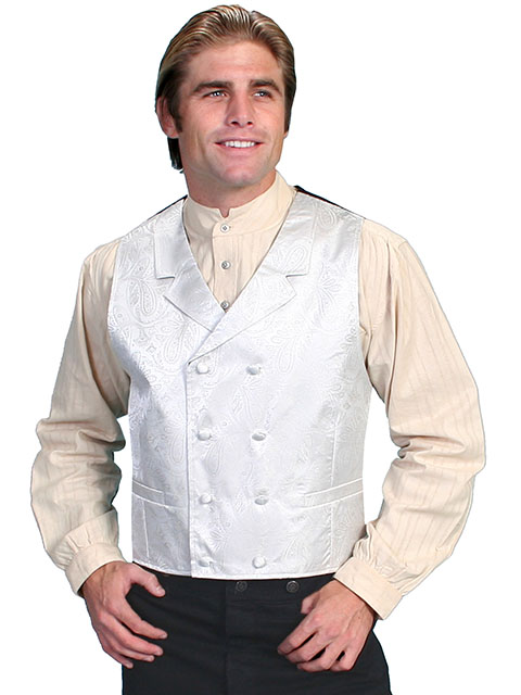 Beautiful double breasted vest with notched lapels