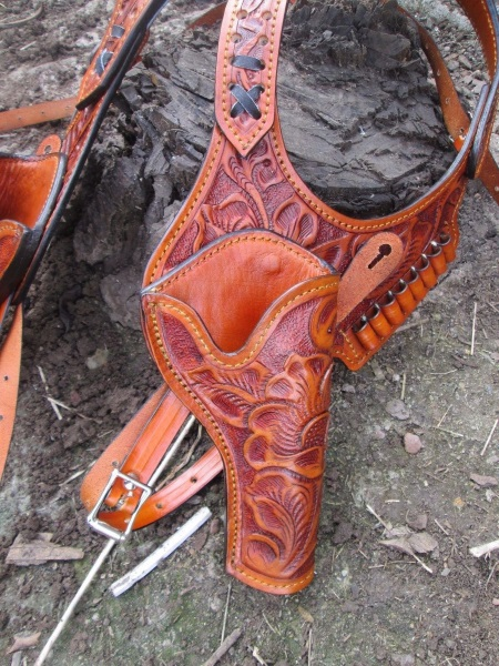 Western Double Shoulder Holsters