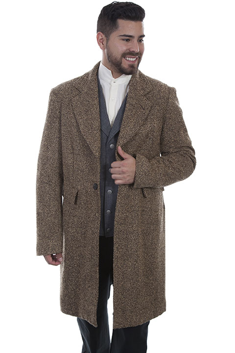 Herringbone pile coat
