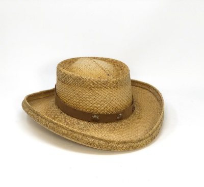 Shady Brady Stars & Stripes Raffia Straw California Hat