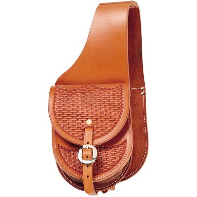 Small Size Natural Leather Western Saddlebags