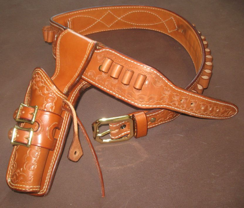 1959 Andy Anderson Design Walk & Draw Western Gun Belt & Holster