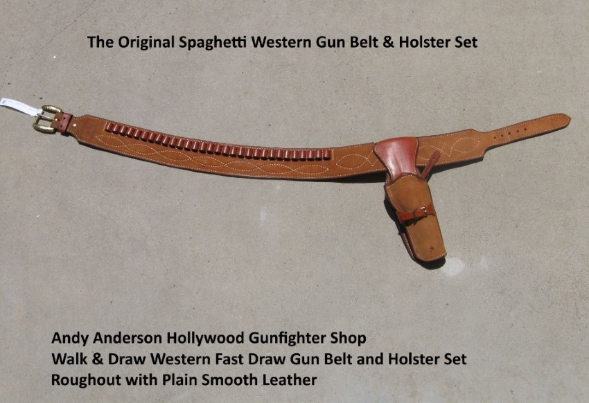 Andy Anderson Design Walk and Draw Western Gun Belt and Holster