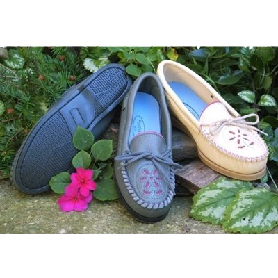 Women's Flower Toe Moccasin Shoes
