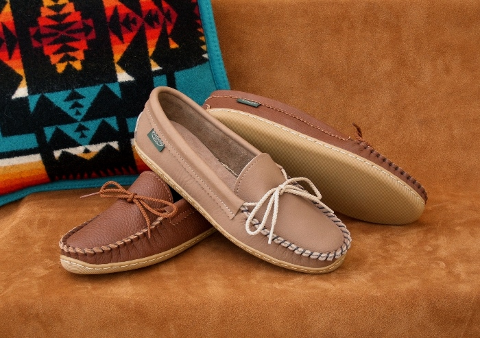 Women's Molded Sole Moccassin Shoes