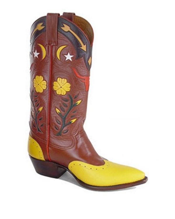 Retro Leather Western Boots