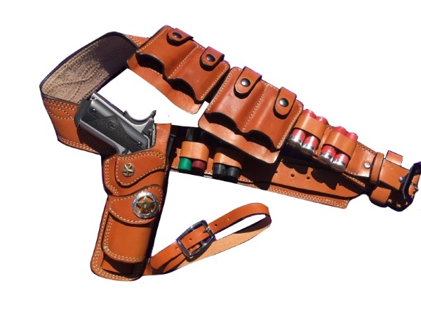Western Gun Belt and Holster Sets Semi Automatic