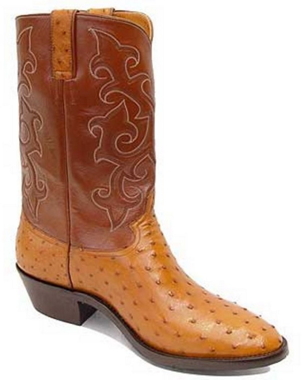 Western Leather Roper Boots