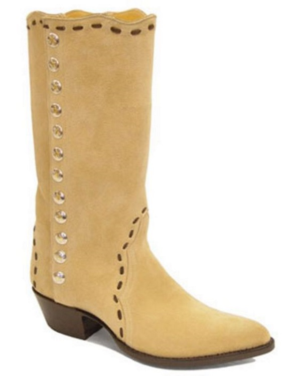 Suede Leather Western Boots