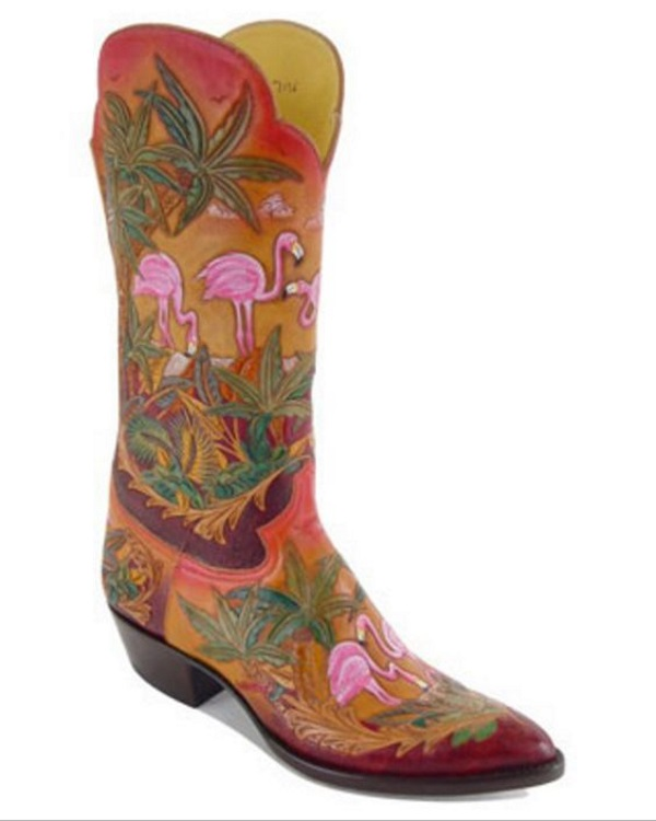 Tooled Leather Western Boots