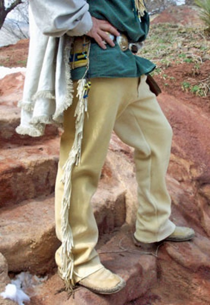 Handmade Men's Buckskin Pants