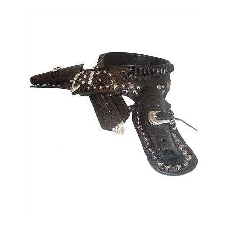 Lone Ranger Double Drop Gun Belt and Side Holsters