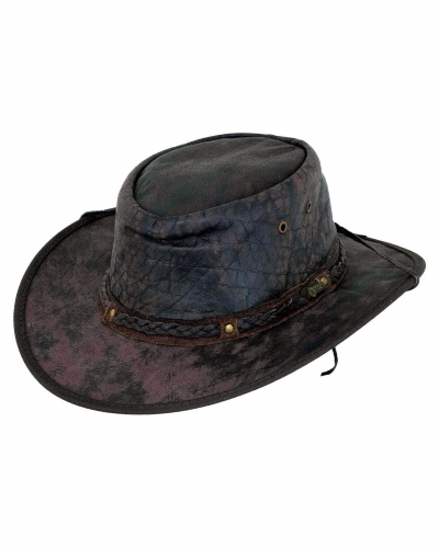 Iron Bark Leather Western Hat