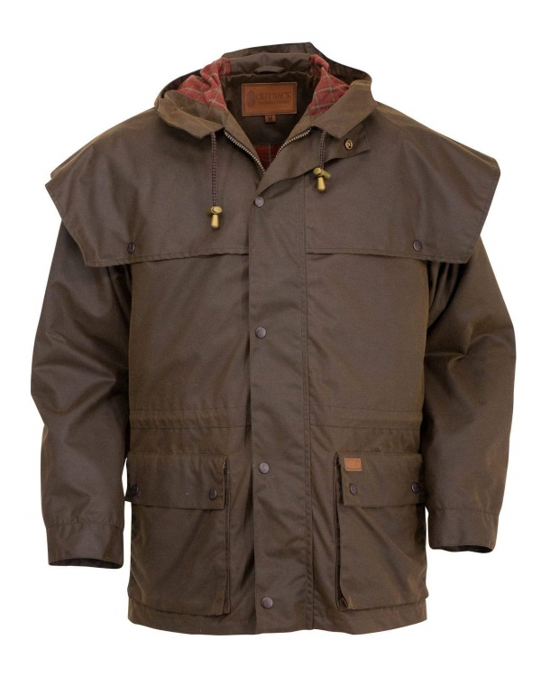 Swagman Oilskin Jacket with Cape