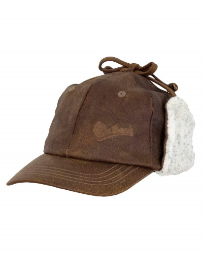 McKinley Leather Cap Lined with Earflaps
