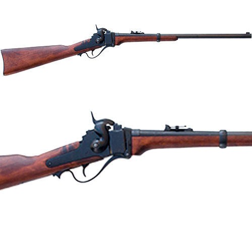 1859 Sharps Carbine Old West Non Firing Blued Replica Rifle