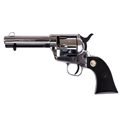 1873 22 Caliber Nickel Blank Firing Old West Replica Pistol