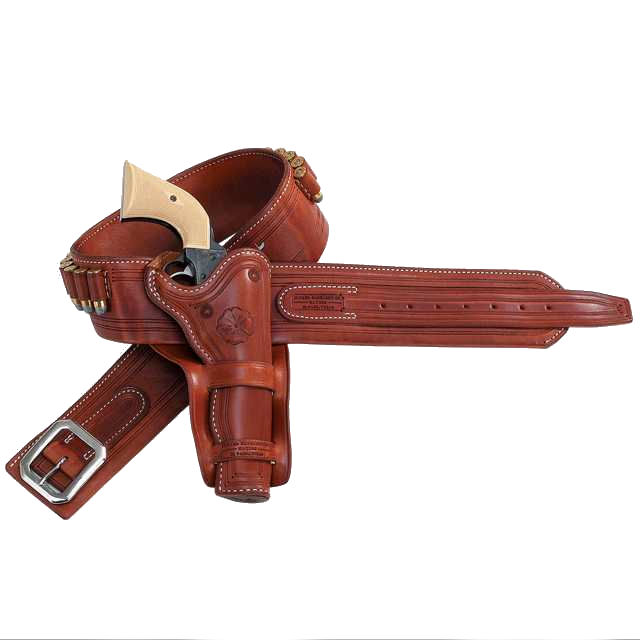 1875 Money Gun Belt & Cheyenne Double Loop Holster