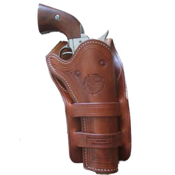1875 F A Meanea Design Full Skirt Cheyenne Double Loop Holster