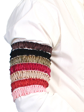 1878 Old West Period Authentic Poly Velvet Sleeve / Arm Garters
