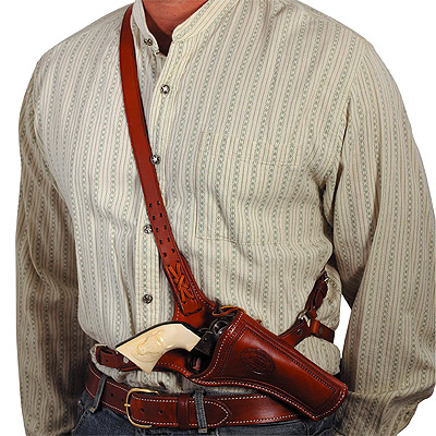 1881 OK Corral Doc Holiday Cross Draw Shoulder Pistol Holster