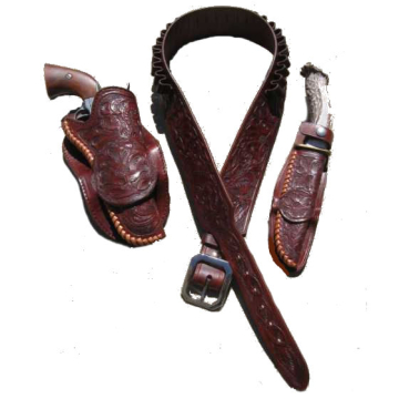 1893 Al Furstnow Design Cartridge Gun Belt with Holster(s) and Knife Sheath