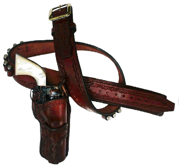 1952 High Noon Cartridge Gun Belt with Hollywood Fast Draw Holster(s)
